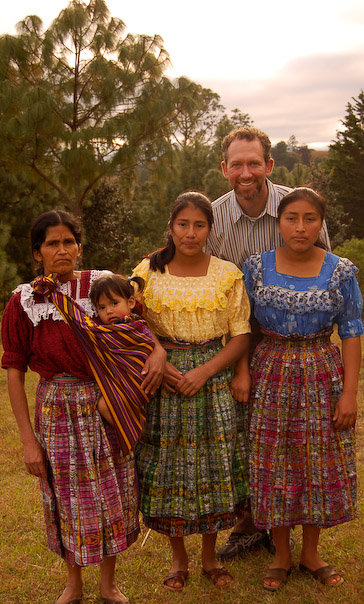 Lyle with the family of his sponsored student, Sebastiana