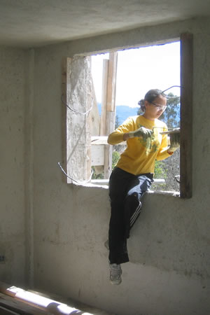Working on the Lemoa orphanage in 2007