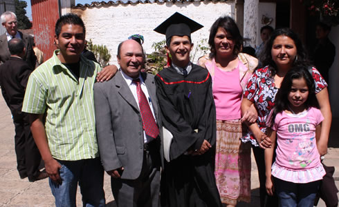 Cesar with his family