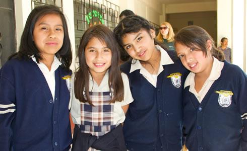 Students at the John Wesley School