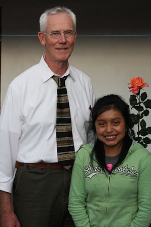 Richard with his sponsored student Alejandra